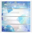 Set of modern banners Abstract vector image vector image