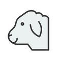 sheep head farm animal filled style editable vector image vector image