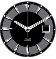 smart watch face h vector image vector image