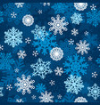 snowflakes winter wallpaper seamless pattern vector image vector image