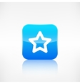 Star favorite sign web icon Application button vector image vector image