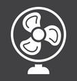 table fan solid icon household and appliance vector image