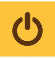 The power icon Power symbol Flat vector image vector image