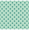 Tile pattern green polka dots on mint background vector image vector image