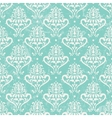 Turquoise vintage wallpaper vector image