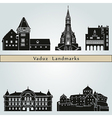 Vaduz landmarks and monuments vector image vector image