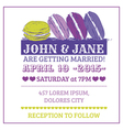 Wedding Invitation Card - Macaroon Theme