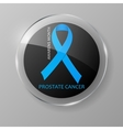 World Prostate Cancer Day button Blue ribbon vector image