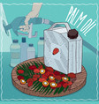 palm oil used for fuel production vector image
