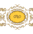 beautiful border with golden vignettes vector image