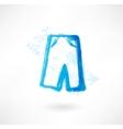 shorts wear grunge icon vector image