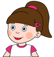 Surprised girl vector image