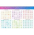 180 trendy perfect gradient icons set of education vector image vector image