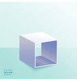 3d open box stand on studio background vector image