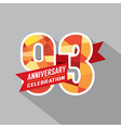 93rd Years Anniversary Celebration Design vector image vector image