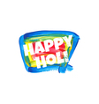 abstract colorful Happy Holi badge vector image