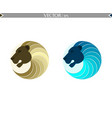 abstract lion set logo vector image