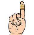 Bandage on finger vector image vector image
