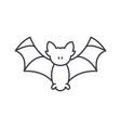 bat line icon concept bat linear vector image vector image