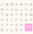 Beauty Outline Icons for web and mobile apps vector image vector image