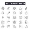 bio organic food line icons for web and mobile vector image