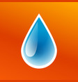 blue drop clean pure water icon isolated vector image