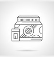 bodybuilding protein flat line icon vector image vector image