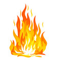 bonfire flame isolated vector image vector image