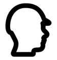 Builder Head Stroke Icon vector image