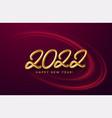 calendar header 2022 realistic metallic gold vector image