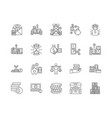 capital line icons signs set outline vector image vector image