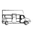 caravan car vehicle vector image vector image