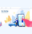 carsharing landing carpooling travel multiple vector image vector image