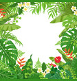 colorful background with tropical plants vector image vector image