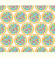 cookie seamless pattern vector image vector image