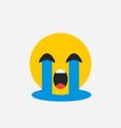 crying emoji sad emotion vector image vector image