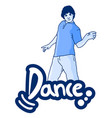 dance man vector image