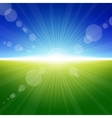 Daylight summer background vector image