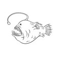 deep sea fish with light coloring vector image vector image