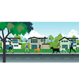 dog leash in public parks vector image