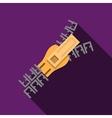 Flat color zipper icon vector image