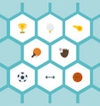 flat icons golf blower ball and other vector image vector image