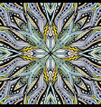 floral mandala square pattern vector image vector image