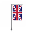 Great Britain flag hanging on a pole vector image vector image