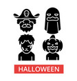 Halloween thin line icons linear