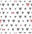 Hand drawn seamless pattern with hearts and bows vector image vector image