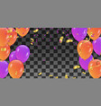 holiday banner with confetti multicolored vector image