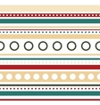 horizontal stripes and circles seamless vector image