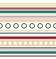 horizontal stripes and circles seamless vector image vector image