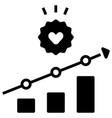 increase customer loyalty solid vector image vector image